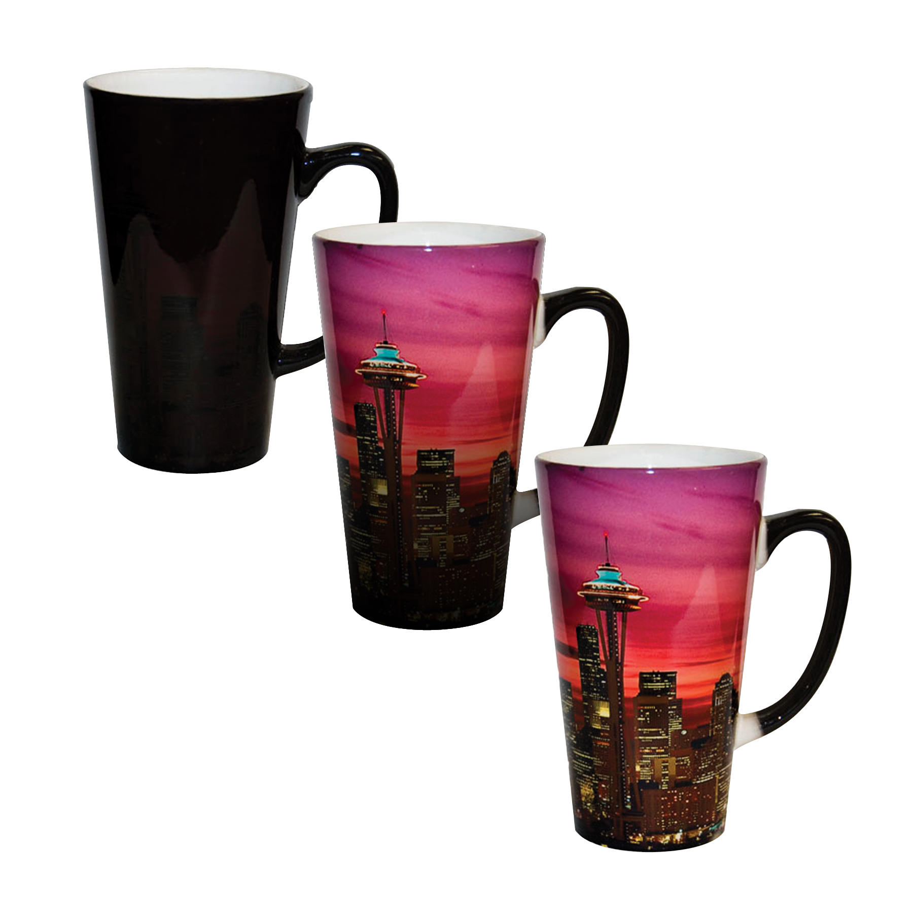 17 Oz Color Changing Latte Mug Photo Usa Corp