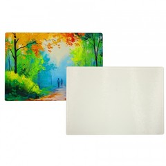 "Rectangular Tempered Glass Cutting Board - 8"" x 11"""