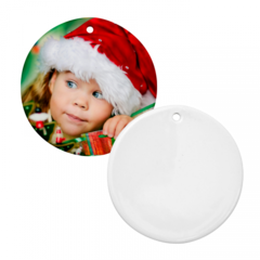 "3"" Round Christmas Ornament with Hole"