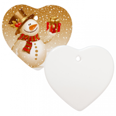 "3"" Heart Christmas Ornament with Hole"