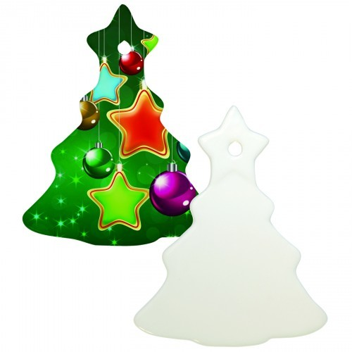 "4"" Christmas Tree Ornament with Hole"
