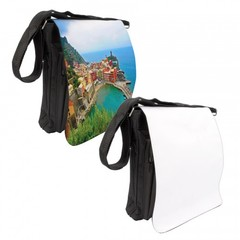 Photo Messenger Bag -  Medium, Black