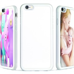 iPhone 6 Soft-shell Case w/ Metal Insert (White)