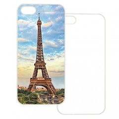 iPhone 4/4S Case w/ Metal Insert (Clear)