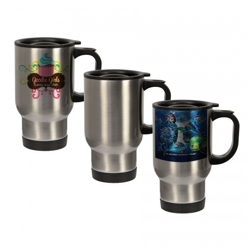 14 oz. Stainless Steel Travel Mug - Silver