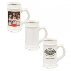 22 oz Beer Stein w/ Gold Trim